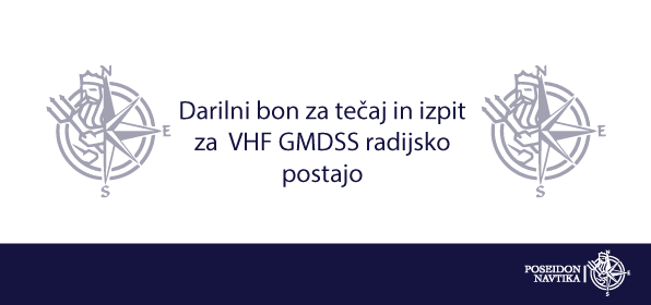 Darilni bon za tečaj in izpit za  VHF GMDSS radijsko postajo 1